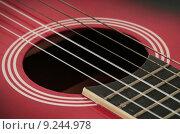 Купить «acoustic guitar», фото № 9244978, снято 19 октября 2018 г. (c) PantherMedia / Фотобанк Лори