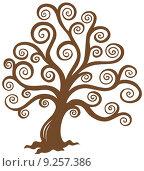 Купить «Stylized brown tree silhouette», иллюстрация № 9257386 (c) PantherMedia / Фотобанк Лори