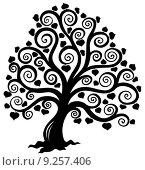 Купить «Stylized tree silhouette», иллюстрация № 9257406 (c) PantherMedia / Фотобанк Лори