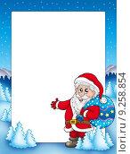 Christmas frame with Santa Claus 1. Стоковая иллюстрация, иллюстратор Klara Viskova / PantherMedia / Фотобанк Лори