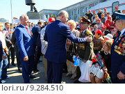Губернатор Самарской области Н.И. Меркушкин на встрече с ветеранами (2014 год). Редакционное фото, фотограф Азат Шарипов / Фотобанк Лори