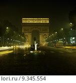Купить «europe landmark transportation night france», фото № 9345554, снято 25 июня 2019 г. (c) PantherMedia / Фотобанк Лори