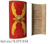 Купить «Roman Scutum Shield», фото № 9371514, снято 18 ноября 2019 г. (c) PantherMedia / Фотобанк Лори