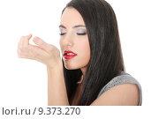 Купить «Beautiful woman applying perfume», фото № 9373270, снято 26 марта 2019 г. (c) PantherMedia / Фотобанк Лори