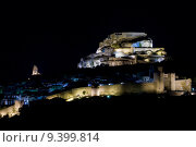 Купить «Morella at night, Comunidad Valenciana, Spain», фото № 9399814, снято 22 октября 2018 г. (c) PantherMedia / Фотобанк Лори