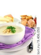 Купить «cheese soup parmesan bruschetta secremesuppe», фото № 9406050, снято 24 апреля 2018 г. (c) PantherMedia / Фотобанк Лори