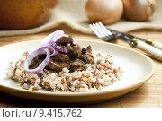 Купить «pork kidney on onion with wild rice», фото № 9415762, снято 23 июля 2019 г. (c) PantherMedia / Фотобанк Лори