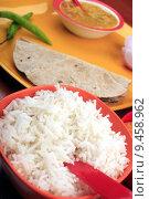 Купить «Rice and roti», фото № 9458962, снято 23 июля 2019 г. (c) PantherMedia / Фотобанк Лори
