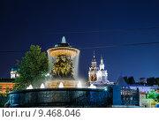 Купить «Фонтан Витали ночью», эксклюзивное фото № 9468046, снято 12 августа 2015 г. (c) Алёшина Оксана / Фотобанк Лори