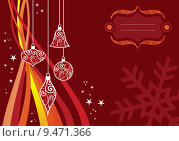 Купить «Christmas waves background», иллюстрация № 9471366 (c) PantherMedia / Фотобанк Лори