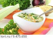 Купить «vegetable soup noodles pottage broth», фото № 9475650, снято 24 апреля 2018 г. (c) PantherMedia / Фотобанк Лори
