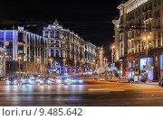 Купить «Москва. Тверская улица вечером», эксклюзивное фото № 9485642, снято 12 августа 2015 г. (c) Алёшина Оксана / Фотобанк Лори