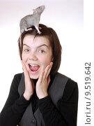Купить «young fear shouting shout rat», фото № 9519642, снято 20 января 2020 г. (c) PantherMedia / Фотобанк Лори