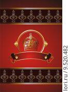 Купить «vintage victorian label design», иллюстрация № 9520482 (c) PantherMedia / Фотобанк Лори