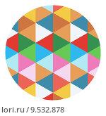 Купить «colored geometric circle», иллюстрация № 9532878 (c) PantherMedia / Фотобанк Лори