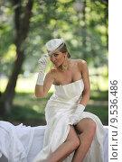Купить «beautiful bride outdoor», фото № 9536486, снято 16 июня 2019 г. (c) PantherMedia / Фотобанк Лори