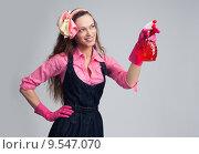 Купить «Домохозяйка делает уборку», фото № 9547070, снято 23 июля 2015 г. (c) Александр Лычагин / Фотобанк Лори