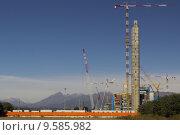 Купить «Incinerator building site in Gerbido, Turin», фото № 9585982, снято 26 апреля 2019 г. (c) PantherMedia / Фотобанк Лори