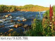 Быстрые воды реки Волчья. Стоковое фото, фотограф Антон Глущенко / Фотобанк Лори