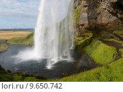 Купить «seljalandsfoss waterfall», фото № 9650742, снято 22 марта 2019 г. (c) PantherMedia / Фотобанк Лори