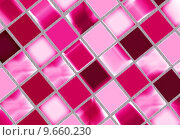 Купить «Tile background in mosaic glossy design», фото № 9660230, снято 25 апреля 2018 г. (c) PantherMedia / Фотобанк Лори