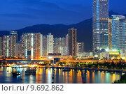 Купить «Twilight blue hour at hongkong downtown. », фото № 9692862, снято 25 мая 2019 г. (c) PantherMedia / Фотобанк Лори