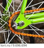 Купить «Bicycle wheel», фото № 9696694, снято 20 октября 2018 г. (c) PantherMedia / Фотобанк Лори