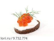 Купить «appetizer dill caviar pumpernickel appetith», фото № 9732774, снято 27 июня 2019 г. (c) PantherMedia / Фотобанк Лори