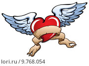 Купить «Stylized heart with wings 2», иллюстрация № 9768054 (c) PantherMedia / Фотобанк Лори