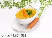Купить «Carrot soup», фото № 9824582, снято 18 июля 2019 г. (c) PantherMedia / Фотобанк Лори