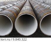 Купить «Perspective of metal pipes rusted », фото № 9840322, снято 14 декабря 2017 г. (c) PantherMedia / Фотобанк Лори