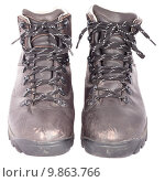Купить «Used solid leather hiking shoes», фото № 9863766, снято 8 июля 2020 г. (c) PantherMedia / Фотобанк Лори