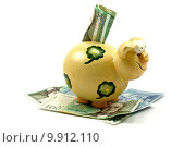 Купить «piggy bank and banknotes», фото № 9912110, снято 28 января 2020 г. (c) PantherMedia / Фотобанк Лори