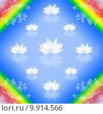 Купить «Abstract lotus background », фото № 9914566, снято 23 июля 2019 г. (c) PantherMedia / Фотобанк Лори