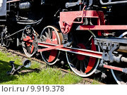 Купить «detail of steam locomotive in railway museum, Jaworzyna Slaska, Silesia, Poland», фото № 9919378, снято 18 июня 2019 г. (c) PantherMedia / Фотобанк Лори