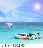 Купить «Speed Boat at Similan National Park», фото № 9921654, снято 21 февраля 2019 г. (c) PantherMedia / Фотобанк Лори