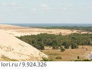 Песчаная дюна -западная граница. Куршская коса (2015 год). Редакционное фото, фотограф Svet / Фотобанк Лори