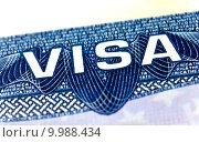 Купить «United States Visa», фото № 9988434, снято 22 февраля 2019 г. (c) PantherMedia / Фотобанк Лори