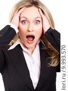Купить «Portrait of bossy businesswoman screaming », фото № 9993570, снято 25 мая 2018 г. (c) PantherMedia / Фотобанк Лори