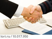 Business agreement. Стоковое фото, фотограф Dmitriy Shironosov / PantherMedia / Фотобанк Лори