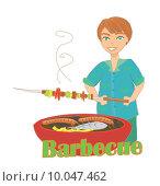 Купить «man cooking on his barbecue», иллюстрация № 10047462 (c) PantherMedia / Фотобанк Лори