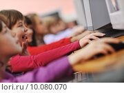 Купить «it education with children in school», фото № 10080070, снято 27 мая 2019 г. (c) PantherMedia / Фотобанк Лори