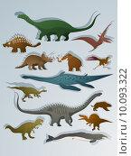 Купить «Cartoon style dinosaurs», иллюстрация № 10093322 (c) PantherMedia / Фотобанк Лори