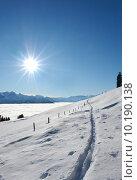 Купить «winter landscape schneespuren nebelmeer light», фото № 10190138, снято 17 июля 2019 г. (c) PantherMedia / Фотобанк Лори