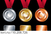 Купить «Sport winners: Gold, silver and bronze medals», иллюстрация № 10208726 (c) PantherMedia / Фотобанк Лори