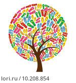 Купить «Flip flops in tree shape», иллюстрация № 10208854 (c) PantherMedia / Фотобанк Лори