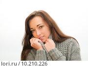 Купить «woman cold autumn fall frost», фото № 10210226, снято 18 июня 2019 г. (c) PantherMedia / Фотобанк Лори