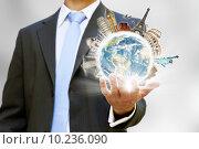 Купить «Travel the world businessman concept», фото № 10236090, снято 18 октября 2019 г. (c) PantherMedia / Фотобанк Лори