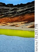 Купить «Lanzarote El Golfo Lago de los Clicos», фото № 10253778, снято 22 апреля 2019 г. (c) PantherMedia / Фотобанк Лори