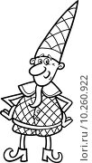 christmas elf for coloring book. Стоковая иллюстрация, иллюстратор Igor Zakowski / PantherMedia / Фотобанк Лори